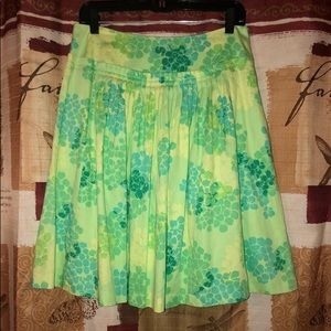 Anthropologie Odille Front Pleated Skirt size 6